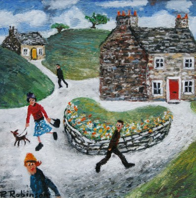 Modern Artist Paul ROBINSON - The Heart of the Village