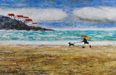 Breezy Walk painting by artist Paul ROBINSON