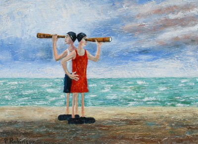 Modern Artist Paul ROBINSON - The Lifeguards