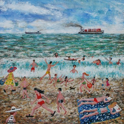 Modern Artist Paul ROBINSON - Buckets and Bikinis