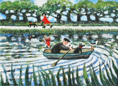 Modern Artist Paul ROBINSON - Man Rowing