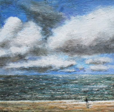 Modern Artist Paul ROBINSON - Running from the Sea