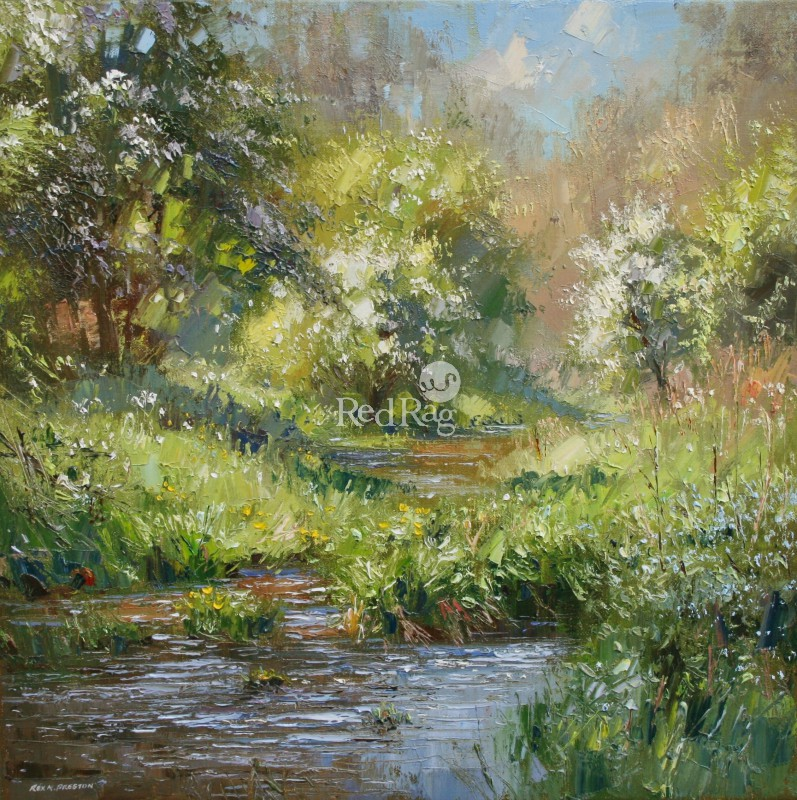 Rex PRESTON - May Blossom, Monk's Dale, Derbyshire