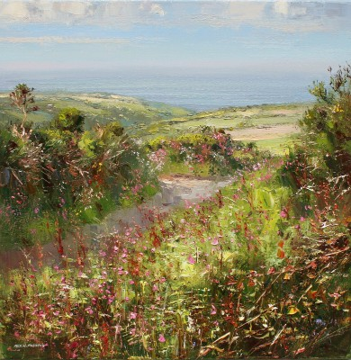 Rex PRESTON - Red Campion and Sorrel, near St. Ives