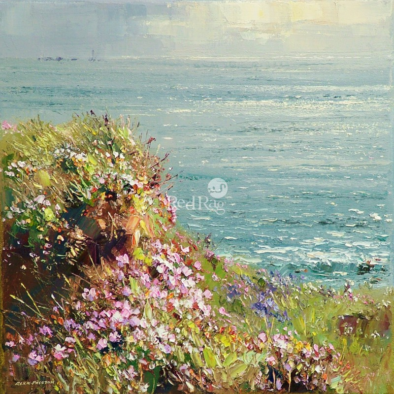 Rex PRESTON - Afternoon Sunlight, Cape Cornwall