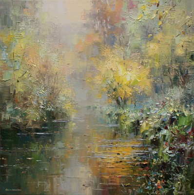 Autumn in Wye Dale painting by artist Rex PRESTON