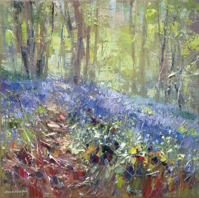 Rex PRESTON, contemporary artist&nbsp;-&nbsp;<span style='color:red;font-size: 200%'>&#8226;</span> Spring Woodland