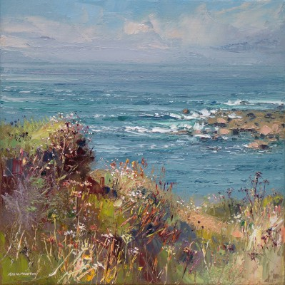 Rex PRESTON, contemporary artist - Sunny Afternoon, Priest's Cove