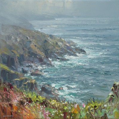 Rex PRESTON - Porthmeor Cliffs, near Treen