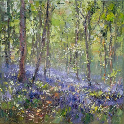 Rex PRESTON, contemporary artist&nbsp;-&nbsp;<span style='color:red;font-size: 200%'>&#8226;</span> Bluebells, Bramley Woods