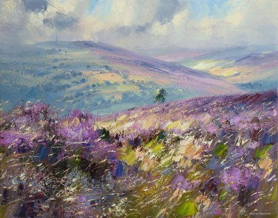 Rex PRESTON - Sunlit Grasses, White Edge Moor