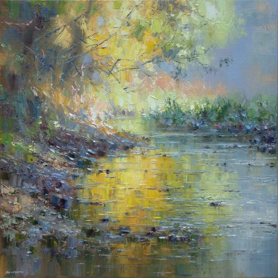 Rex PRESTON, contemporary artist - Afternoon Sunlight, Tideswell Dale