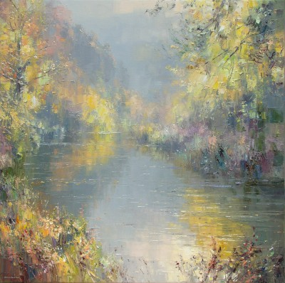 Rex PRESTON, contemporary artist&nbsp;-&nbsp;<span style='color:red;font-size: 200%'>&#8226;</span> Autumn, Miller's Dale