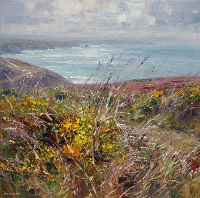 Modern Artist Rex PRESTON - Footpath to Chapel Porth