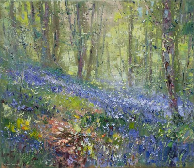 Modern Artist Rex PRESTON - Sunlight, Bramley Woods