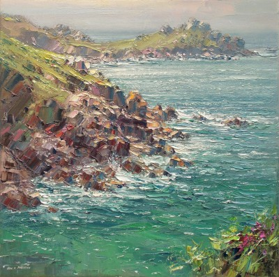 Modern Artist Rex PRESTON - Afternoon Light, Gurnard's Head