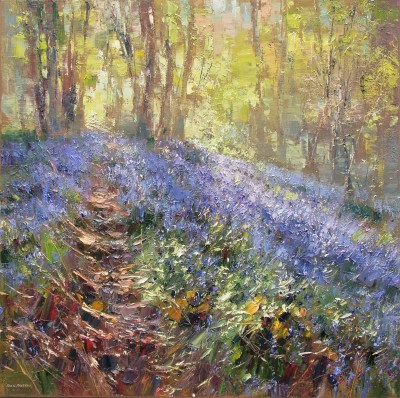 Modern Artist Rex PRESTON - Spring Sunlight, Bramley Wood