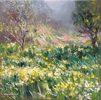 Modern Artist Rex PRESTON - Lake District Daffodils