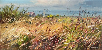 Modern Artist Rex PRESTON - Late Summer Grasses, West Cornwall