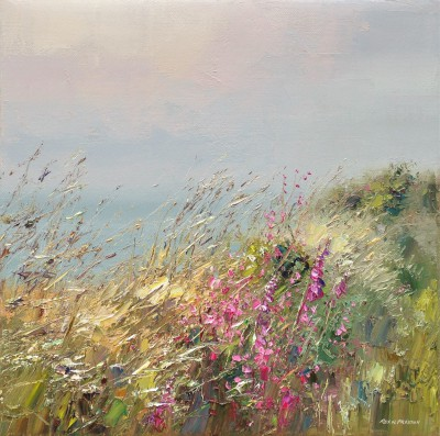 Modern Artist Rex PRESTON - Cornish Wall in June