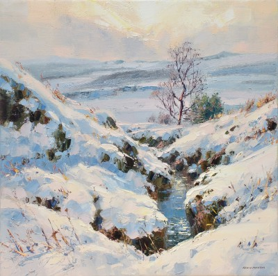 Modern Artist Rex PRESTON - March Snow, Burbage Moor