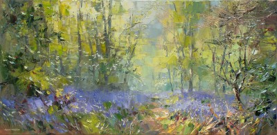 Modern Artist Rex PRESTON - Spring Afternoon, Bramley Woods