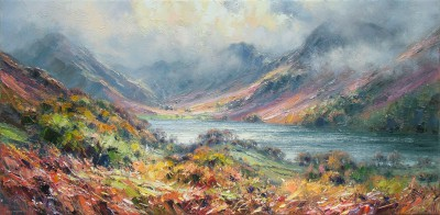 Modern Artist Rex PRESTON - Autumn, Buttermere