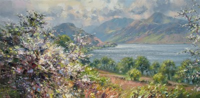 Modern Artist Rex PRESTON - Reflected Light, Crummock Water