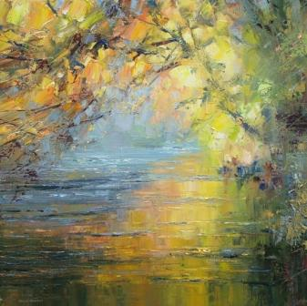 Rex PRESTON - Beech Trees by the River