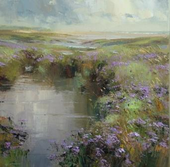 Rex PRESTON - Sea Lavender Thornham Marshes Norfolk