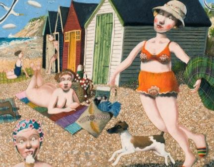 Modern Artist Richard ADAMS - On the Beach