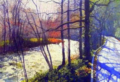 The River Road painting by artist Richard THORN