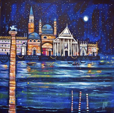 Modern Artist Ritchie COLLINS - Venice Reflections
