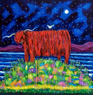 Modern Artist Ritchie COLLINS - Highland Coo Blues
