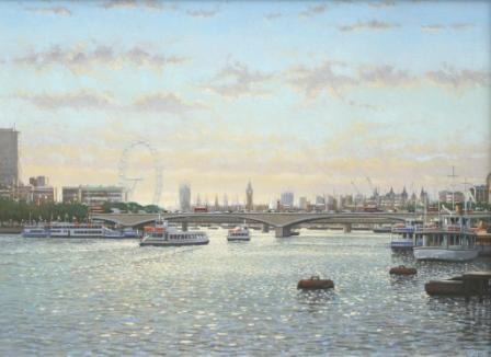 Robert CRISP - Afternoon Light,The Thames