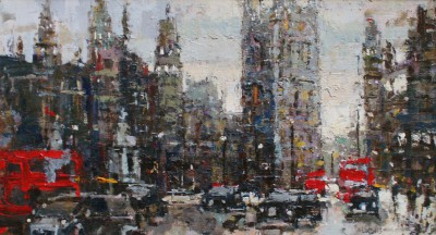 Modern Artist Robert E WELLS - Towards Parliament