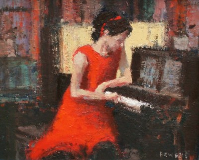 Modern Artist Robert E WELLS - The Piano