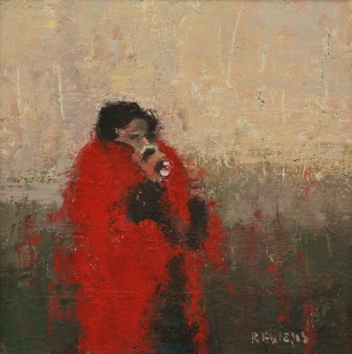 Modern Artist Robert E WELLS - Warm Tea, Red Blanket