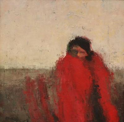 Modern Artist Robert E WELLS - Red Blanket