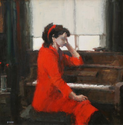 Robert E WELLS - Red Dress