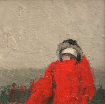 Robert E WELLS - Girl with Blanket