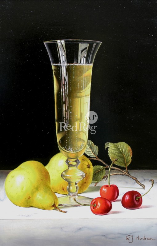 Roy HODRIEN - Champagne with Pears and Cherries