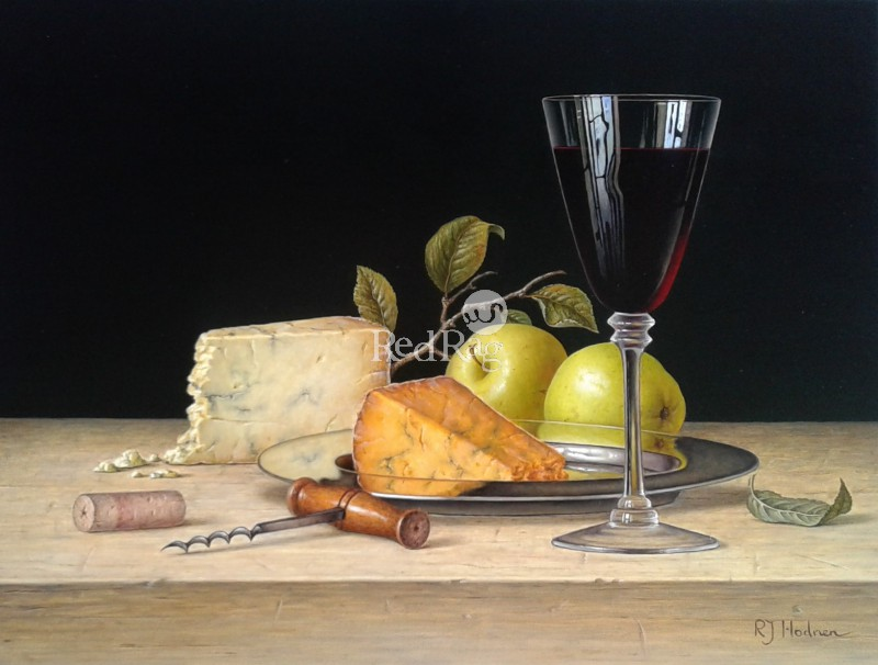 Roy HODRIEN - Red Wine with Cheese and Apples