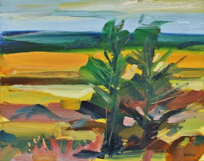 Two Trees, Aberdeenshire  painting by artist Shona BARR