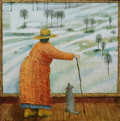 Modern Artist Simon GARDEN - Winter