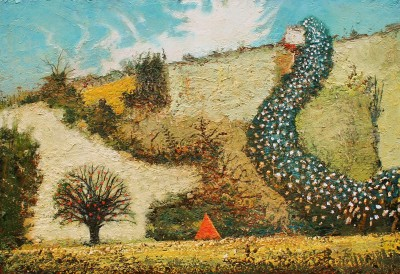 Camping Trip painting by artist Simon GARDEN