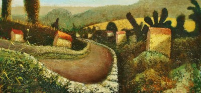 Modern Artist Simon GARDEN - Down the Lane