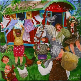 Modern Gypsy Caravans http://www.bathartgallery.co.uk/showInventory.asp?iId=6287&title=Gypsy%20Caravan&artist=Stephanie%20LAMBOURNE