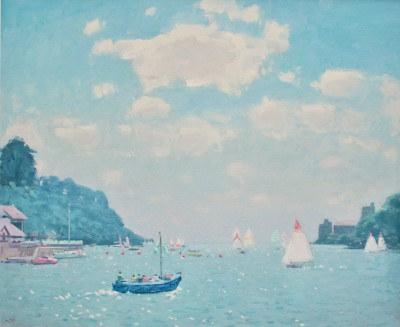 Modern Artist Stephen BROWN RBA - Castle Ferry, Dartmouth