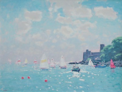 Modern Artist Stephen BROWN RBA - Dartmouth Castle, High Summer